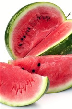 Preview iPhone wallpaper Watermelon, fruit, white background