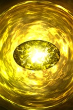 Preview iPhone wallpaper Yellow gemstone, bright