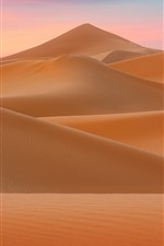 Preview iPhone wallpaper Desert, dunes, nature landscape