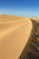Preview iPhone wallpaper Desert, sand, blue sky