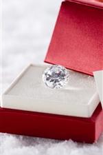 Diamante, presente, coração amoroso, romântico