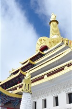Preview iPhone wallpaper Dongga Temple, sky, Tibet