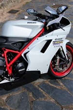 Preview iPhone wallpaper Ducati 848 motorcycle, rocks