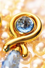 Preview iPhone wallpaper Earrings, pearls