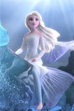 Vorschau des iPhone Hintergrundbilder Elsa, Frozen 2, magisches Wasserpferd