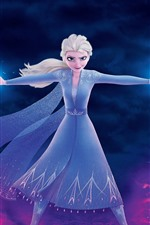 Preview iPhone wallpaper Elsa, magic, ice and fire, Frozen 2