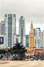 Preview iPhone wallpaper Florida, Miami, city, skyscrapers, USA