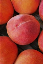 Preview iPhone wallpaper Fruit, some ripe peaches