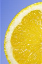 Preview iPhone wallpaper Lemon slice, blue background