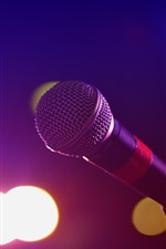 Microphone, light circle