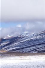 Mountains, snow, winter, Tibet
