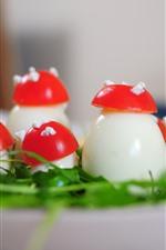 Preview iPhone wallpaper Mushroom, creative food