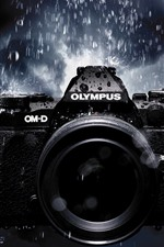 Preview iPhone wallpaper Olympus camera in rain
