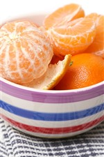 Preview iPhone wallpaper One bowl of tangerines, fruit