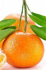 iPhone обои Апельсины, белый фон