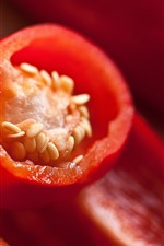 Preview iPhone wallpaper Red pepper close-up, chilli