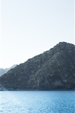 Preview iPhone wallpaper Sea, mountains, islands