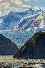Preview iPhone wallpaper Sea, snow, mountains, glacier