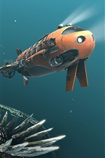 Preview iPhone wallpaper Submersibles, monster, underwater, creative picture