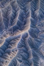 Preview iPhone wallpaper Top view, mountains, texture
