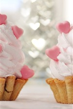 Preview iPhone wallpaper Two ice creams, love hearts