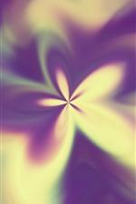 Vorschau des iPhone Hintergrundbilder Abstrakte Blume, dunstig