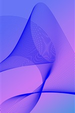 Preview iPhone wallpaper Abstract wave lines, purple background
