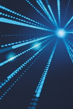 Preview iPhone wallpaper Blue light rays, abstract