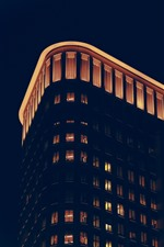 Preview iPhone wallpaper Buildings, lights, night, darkness