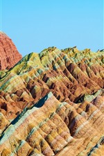 Preview iPhone wallpaper China, Danxia Mountain, hills