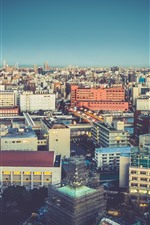 Preview iPhone wallpaper Cityscapes, buildings, lights, dusk