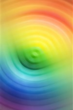 Preview iPhone wallpaper Colorful circles, rainbow colors, abstract, hazy