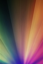 Preview iPhone wallpaper Colorful light rays, abstract