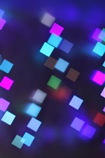 Preview iPhone wallpaper Colorful squares, glare light, abstract