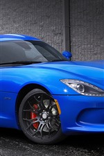 Preview iPhone wallpaper Dodge GTS blue sports car side view