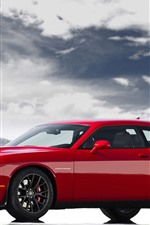 Preview iPhone wallpaper Dodge classic sport car, red color