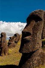 Preview iPhone wallpaper Easter Island, Moai Statue, Chile