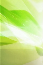 Preview iPhone wallpaper Green style, glare light rays, abstract picture