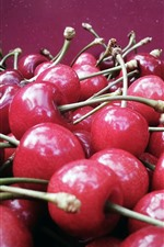 Preview iPhone wallpaper Many delicious cherries, fruit