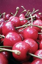 Many delicious cherries, fruit