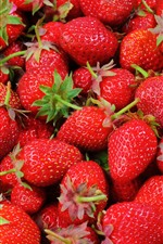 Preview iPhone wallpaper Many delicious strawberries, fruit