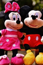 Preview iPhone wallpaper Mickey and Minnie, mouse