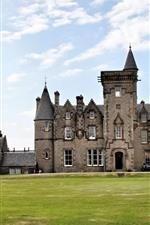 Scotland, Glengorm Castle, Tobermory, meadow, sky, clouds