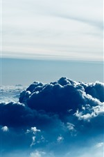 Preview iPhone wallpaper Sky, thick clouds, sun rays
