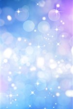 Preview iPhone wallpaper Stars, light circles, glare, colorful, abstract