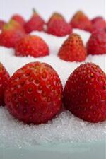 Preview iPhone wallpaper Strawberries, sugar powder