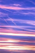 Aperçu iPhone fond d'écranCiel coucher de soleil, nuages, lueur