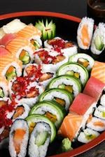 Sushi, food, sticks, Japanese food