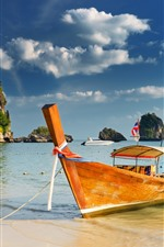Preview iPhone wallpaper Thailand, boat, sea, tropical, beach
