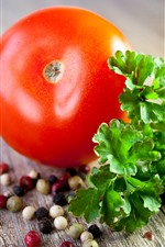 Preview iPhone wallpaper Tomato, vegetable, seasoning